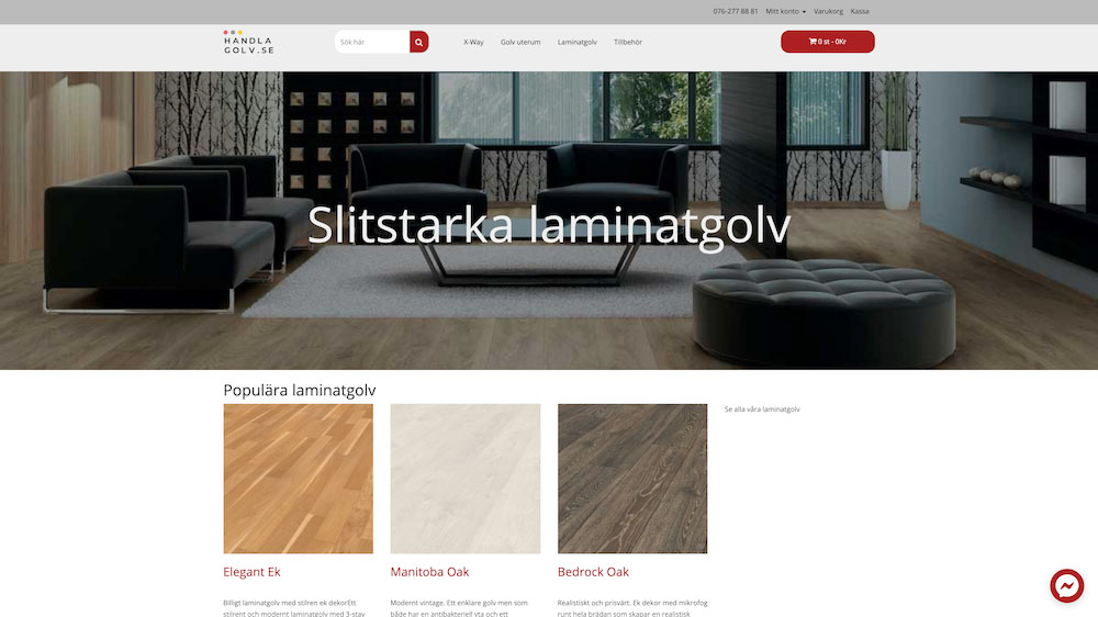 Handlagolv webbdesign