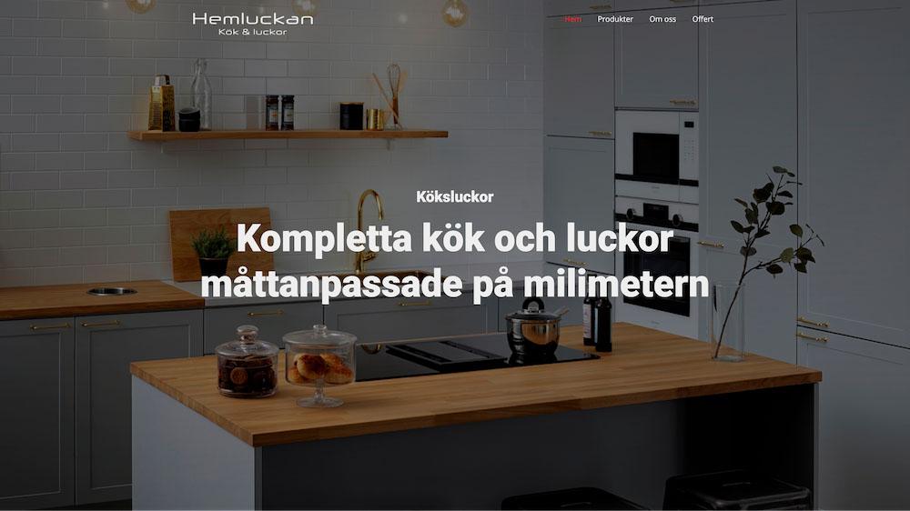 Hemluckan webbdesign